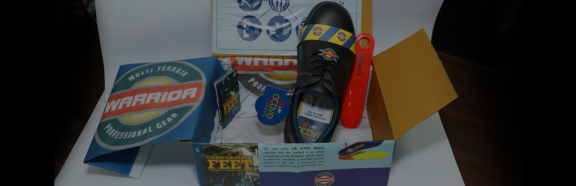 Warrior Safety Shoes Packaging